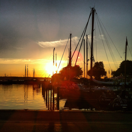 Sonnenuntergang in Laboe / Sunset in Laboe