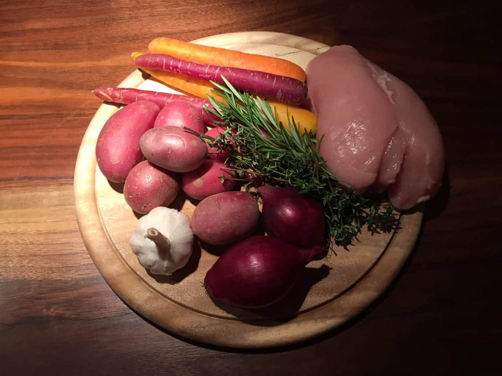 Hähnchen & Gemüse - die Zutaten für das Rezept