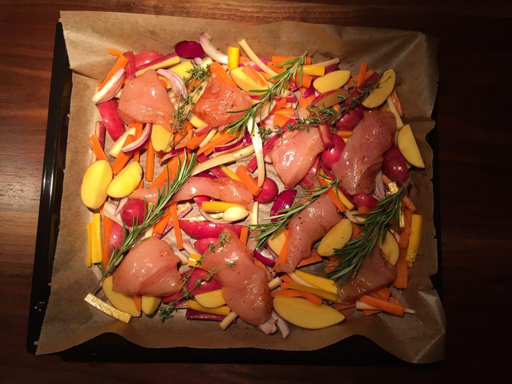 Hähnchen & Gemüse - Vorbereitung